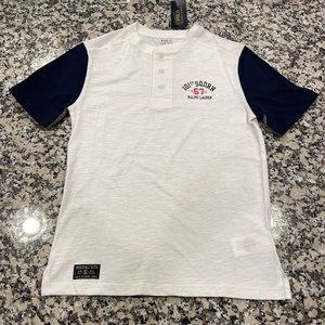 New! Kids Youth Polo Button Up T-Shirt